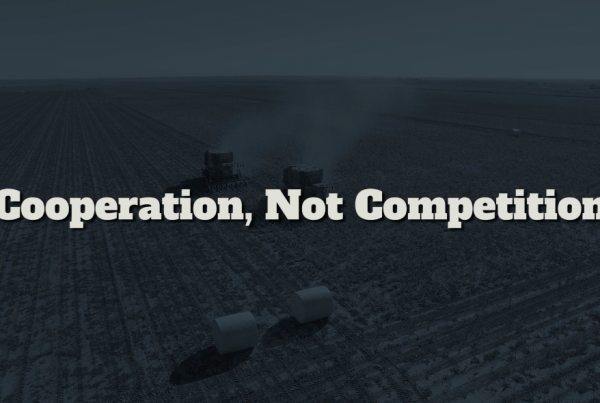 Cooperation not competition