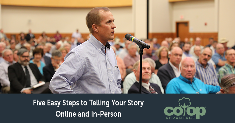 Five Easy Steps to Telling Your Story Online and In-Person